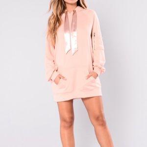 Hooded tunic blush
